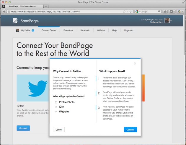 BandPageConnect_3TwitterScreenshot