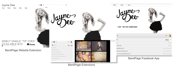 BandPage Website, Extensions, Facebook