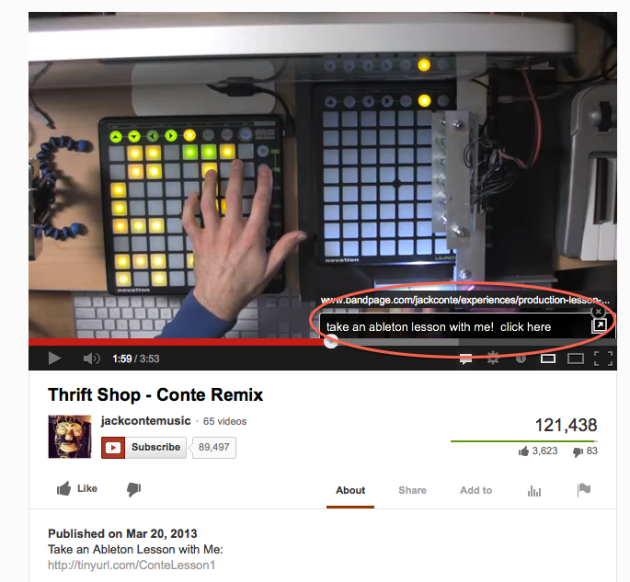 Jack Conte's Experiences Promotion on YouTube